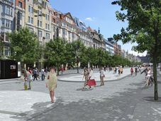 Revitalisation of Wenceslas Square by Cigler Marani Architects, photo: CTK