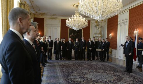 New Czech government, headed by Andrej Babiš, sworn in at Prague Castle, photo: ČTK
