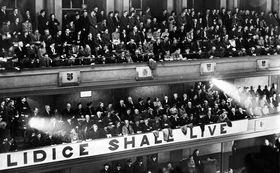 "Initiative ""Lidice Shall Live!"" (Foto: Archiv der Gedenkstätte Lidice)"