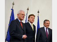 Hans-Gert Pöttering, Miroslav Vlček, Bernard Accoyer, photo: CTK