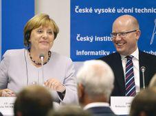Angela Merkel, Bohuslav Sobotka (Foto: ČTK)