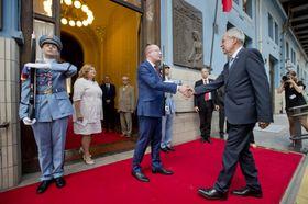 Bohuslav Sobotka and Alexander Van der Bellen, photo: ČTK