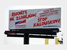 Citizen Rights' Party-Zemanites' campaign, photo: CTK