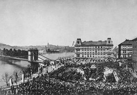 Laying of the foundation stone in 1868, photo: archive of National Theatre