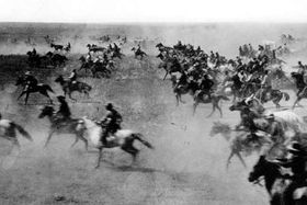 Land run in Oklahoma in 1889, photo: Chris 73, Public Domain