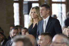 Andrej Babiš avec son épouse, photo: ČTK