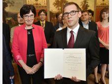 Eva Zažímalová a Peter Dráber, foto: ČTK