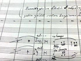 El manuscrito original de Rusalka, foto: Michaela Vetešková, ČRo