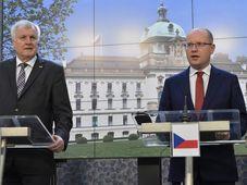 Horst Seehofer und Bohuslav Sobotka (Foto: ČTK)