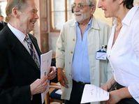 Václav Havel, Jiří Stránský, Jana Hybášková, photo: CTK