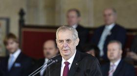 Miloš Zeman při inauguračním projevu, foto: ČTK
