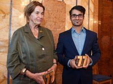L'écrivain Sylvie Richterová et Radek Banga ont été récompensé par le prix František Kriegel, photo: ČTK