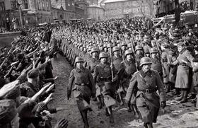 Wehrmacht in Prag (Foto: Public Domain)