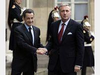 Nicolas Sarkozy et Mirek Topolánek, photo: CTK