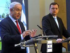 Benjamin Netanjahu, Petr Nečas (Foto: ČTK)