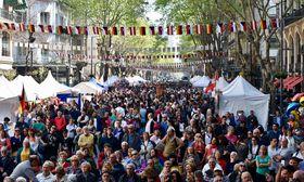 Escenario en la Avenida de Mayo, foto: Gobierno de la Ciudad de Buenos Aires
