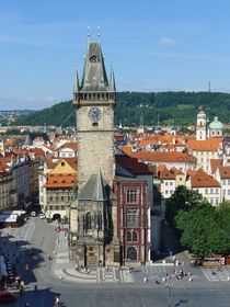La torre del Viejo Ayuntamiento en Praga, foto: Miloš Solař, NPÚ