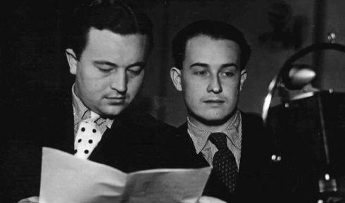 Jan Werich and Jiří Voskovec, photo: archive of Czech Radio