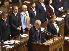 Miloš Zeman exprime son soutien au gouvernement Babiš, photo: ČTK