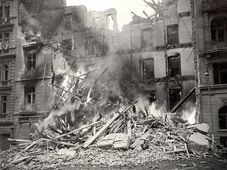 The bombardment of Prague in 1945, photo: Archive of DPP Praha