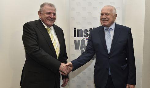 Vladimír Mečiar, Václav Klaus, photo: CTK