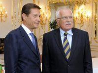 Alexander Zhukov, Václav Klaus (right), photo: CTK