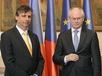 EU President Van Rompuy with Czech PM Fischer, photo: CTK