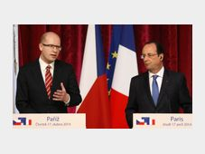 Bohuslav Sobotka, Francois Hollande, photo: CTK