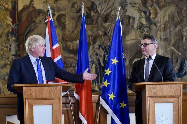 Boris Johnson, Lubomír Zaorálek, photo: CTK