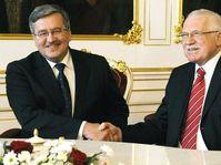 Bronislaw Komorowski et Václav Klaus, photo: CTK