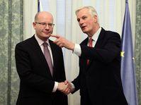 Bohuslav Sobotka, Michel Barnier, photo: ČTK