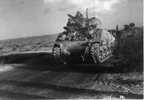 Tanque M4 Sherman del ejército israelí (1948-49). Foto: public domain