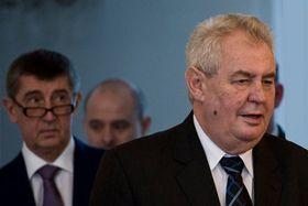 Andrej Babiš, Miloš Zeman, photo: Filip Jandourek