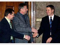 Jiri Cunek, Mirek Topolanek et Martin Bursik, photo: CTK