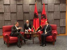 Lubomír Zaorálek a participé à une réunion des ministres des Affaires étrangères de six pays des Balkans de l'Ouest avec des représentants de la Commission européenne, photo: MZV