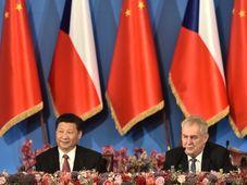 Xi Jinping et Miloš Zeman, photo: ČTK