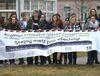 Demonstrace studentů v Karlových Varech, foto: ČTK