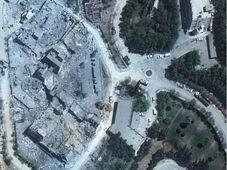 Le Centre de recherche et de développement Barzah en Syrie le vendredi 13 avril 2018 et le dimanche 15 avril, à la suite d'une attaque de missiles alliés dirigée par les États-Unis, photo: ČTK