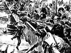 Massaker an Deutschen in Ústí nad Labem (31. Juli 1945). Quelle: `Tragische Erinnerungsorte`