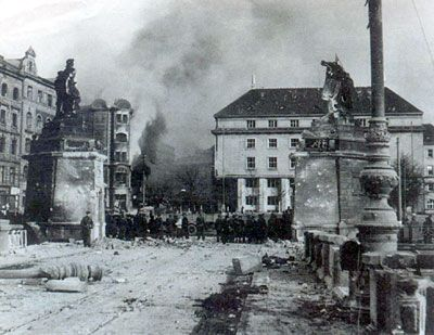 The bombing of prague was it a mistake radio prague for Dresden to prague train