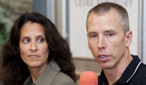 Indira Feustel s manželem Andrew Feustelem, foto: Filip Jandourek, ČRo