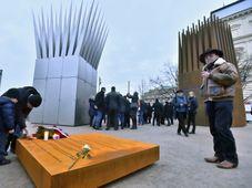 Jan Palach memorial at Alšovo nábřeží, photo: CTK