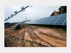 Ševětín solar power plant, photo: CTK