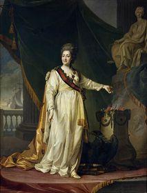 Екатерина II. Картина работы Дмитрия Левицкого