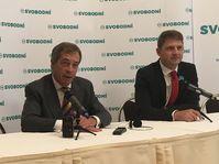 Nigel Farage, Petr Mach, photo: Ian Willoughby