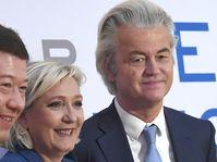 Tomio Okamura, Marine Le Pen, Geert Wilders, photo: ČTK
