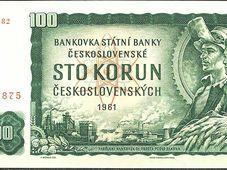 Банкнота номинальной стоимостью 100 чехословацких крон (1961 -1993 гг.), Фото: Valeewildar, CC BY-SA 4.0