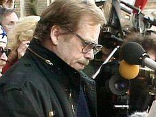 Václav Havel, el balcón del edificio Melantrich, Foto: ČT24