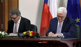 Frank-Walter Steinmeier  y Lubomír Zaorálek, foto: ČTK