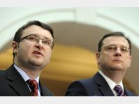 Pavel Drobil et Petr Nečas, photo: CTK